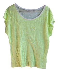 Old Navy Neon Bright Geometric Striped T Shirt Lime