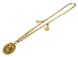 Chanel Chanel Vintage Gold Oversize CC Medallion Charm Chain Link Necklace in Box