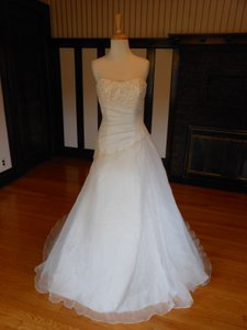 Pronovias Ivory / Gold Destination Wedding Dress Size 4 (S)