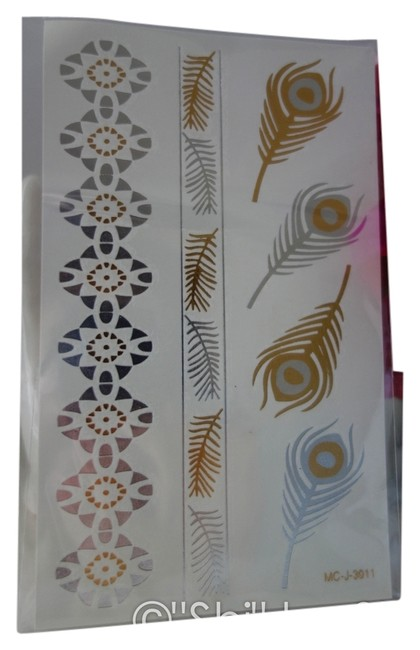"""Item - Gold and Silver Metalic """"Shi"""" By Shila Jewelry Temporary Tattoos"""