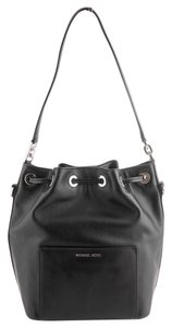 Michael Kors Bucket Leather Balck Stud Cross Body Bag