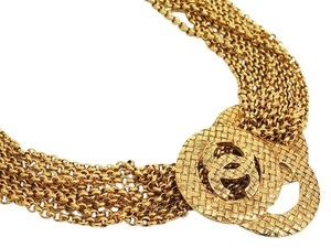 Chanel Chanel RARE Vintage Gold Large CC Charm Multi Chain Link Necklace