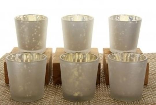 White Lot Of 60 Mercury Glass Holders New Free Shipping Wholesale Mercury Glass Holders Votive/Candle