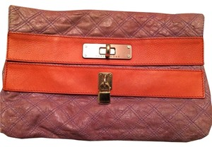 Marc Jacobs Soft Purple With Orange Trim Clutch