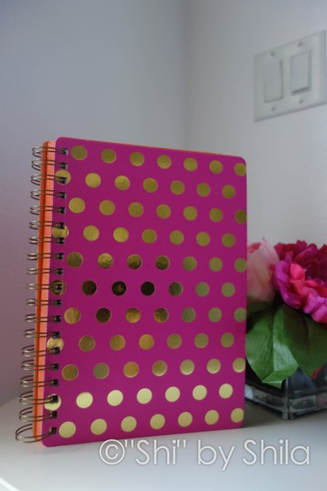 Other Pink with Gold Polka Dots Notebook