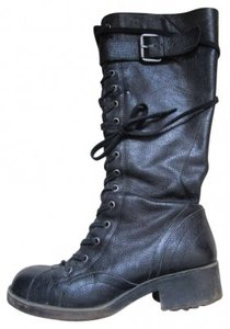 Nine West From The Vintage American Collection Army Vintage Leather Black Leather Boots