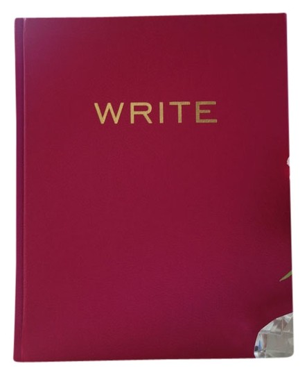"Other Pink ""Write"" Notebook with Leather hard cover"