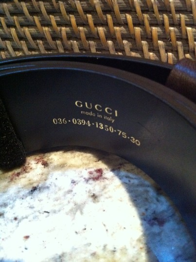 Gucci Gucci Brown Leather Bold G Buckle Belt
