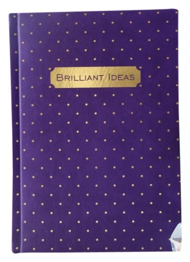 """Other """"Brilliant Ideas"""" Purple with Gold Polka Dots Notebook."""