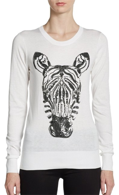 Preload https://item3.tradesy.com/images/french-connection-white-nairobi-sequined-sweaterpullover-size-4-s-1676592-0-0.jpg?width=400&height=650