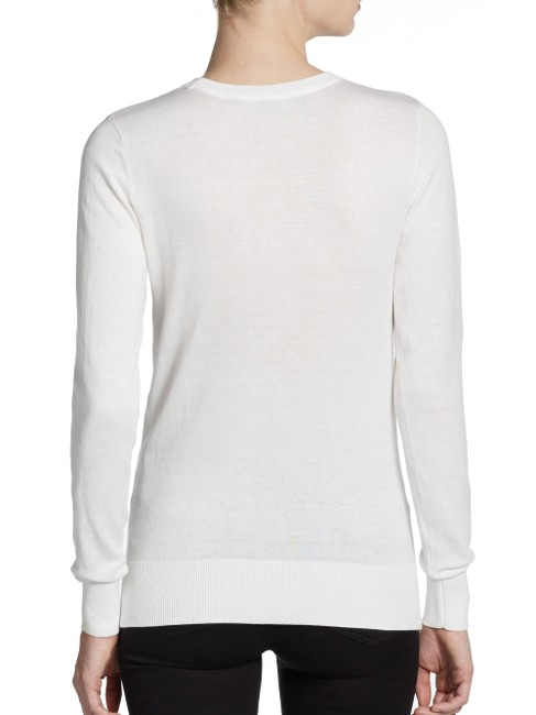 "French Connection Crewneck Long Sleeves Ribbed Cuffs And Hem Style About 25"" From Shoulder To Hem Acrylic/Polyamide/Nylohn/Elastane Dry Sweater"