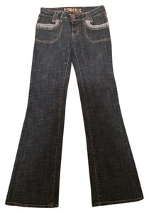Hydraulic Boot Cut Jeans-Medium Wash