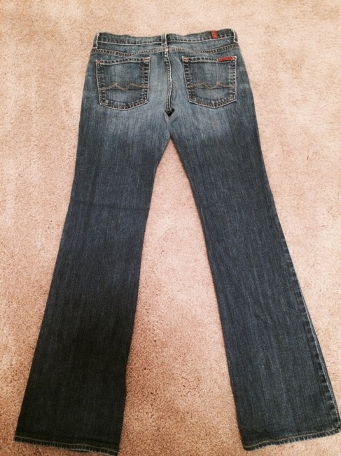 7 For All Mankind Boyfriend Cut Jeans-Dark Rinse