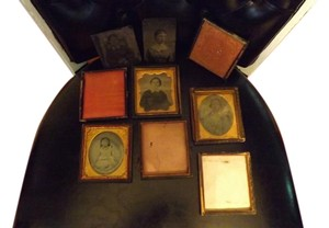 Collection of Antique Daguerreotypes Wonderful Lot of Antique Daquerreotypes and Tin Types