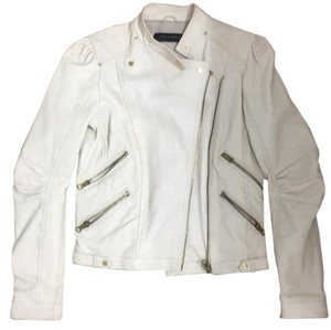 Zara Beige Leather Jacket