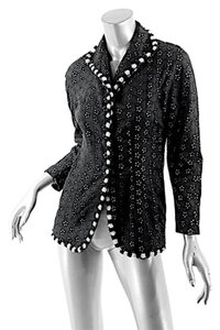 Moschino Sequins Eyelet Couture Black Jacket