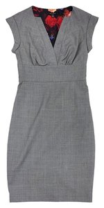 Ted Baker short dress Grey Houndstooth Wool Short Sleeve on Tradesy