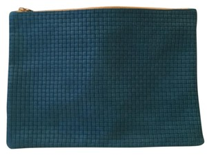 Clare V. Turquoise Clutch