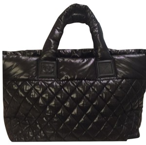 Chanel Like New Super Light Weight Tote in Black
