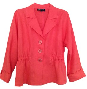 Jones New York Spring Jacket Linen Coral Blazer