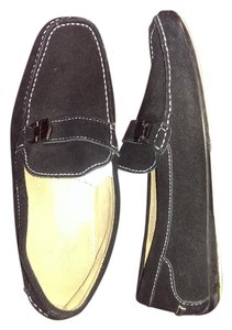 Robert Gate Dtiving Loafers Mens Black suede Flats