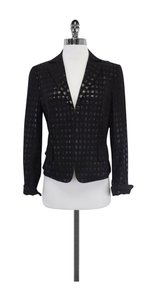 Akris Black Brocade Shimmer Jacket