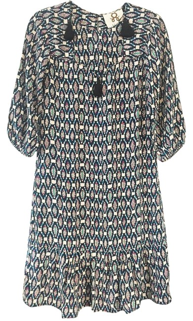 Preload https://img-static.tradesy.com/item/16769212/figue-navy-multi-color-tunic-with-black-tassles-mid-length-short-casual-dress-size-00-xxs-0-2-650-650.jpg
