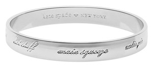 Kate Spade Rhodium plated love bug engraved bangle
