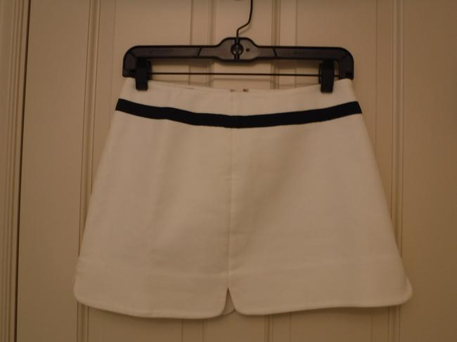 Juicy Couture Detail Cotton Mini Skirt White and Blue Image 1