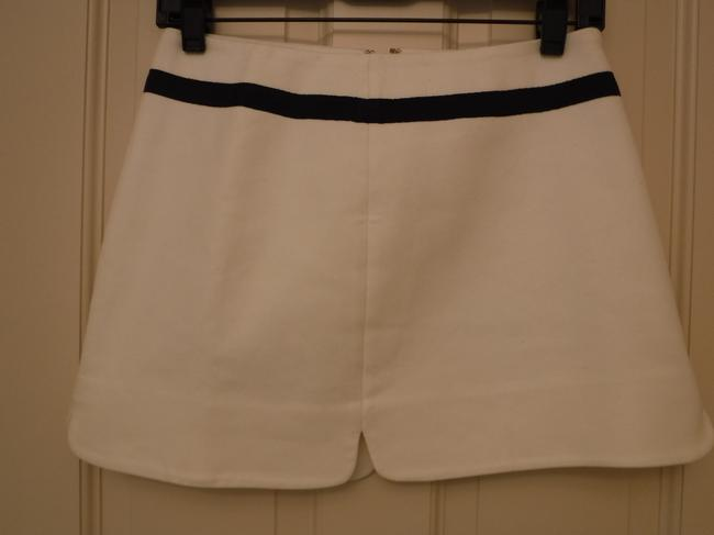 Juicy Couture Detail Cotton Mini Skirt White and Blue Image 3
