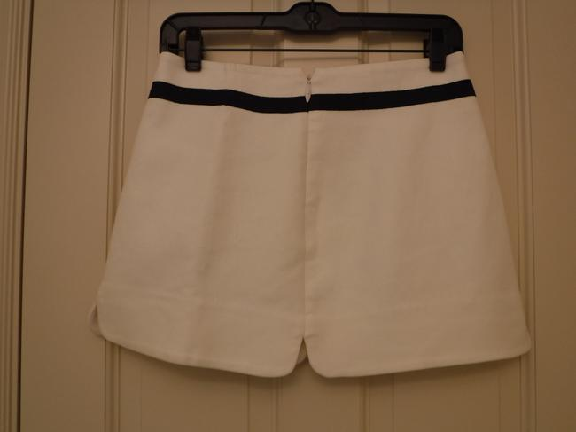 Juicy Couture Detail Cotton Mini Skirt White and Blue Image 4
