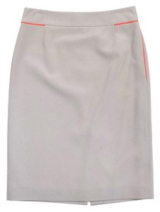 Elie Tahari Beige Orange Pencil Skirt