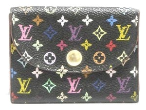 Louis Vuitton Authentic Louis Vuitton Multicolore Monogram Noir Card Case w/ Grenade Interior