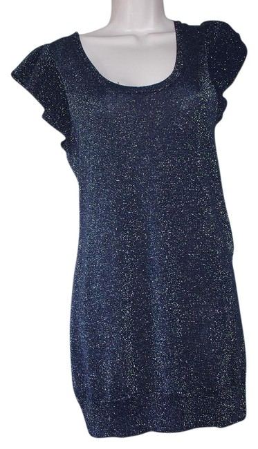 Preload https://img-static.tradesy.com/item/16769533/paul-and-joe-black-cotton-blend-silver-sparkly-knit-cocktail-mini-night-out-dress-size-4-s-0-1-650-650.jpg