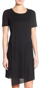 Bobeau short dress black Wrap Faux on Tradesy