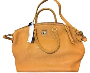 Dooney & Bourke Pebble Leather Satchel in Chamois