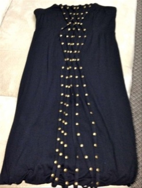 Guess Strapless Gold Tube Top Gold Detail Tunic Top Jersey Knit Jersey Jeans Dress