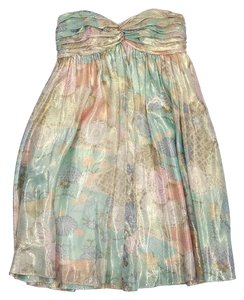 A.B.S. by Allen Schwartz short dress Metallic Multi Color Floral Silk on Tradesy