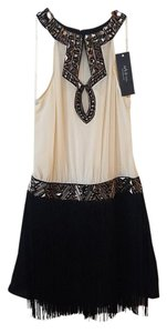 Ark & Co. Fringe Embellished Above Knee Dress
