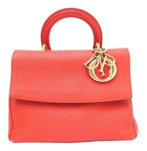 Dior Christian Be Satchel in red