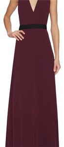 Jill Stuart V-neck Formal Prom Belted Dress