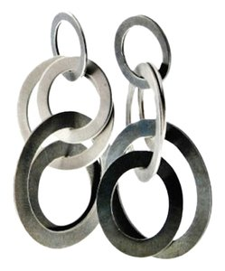 High end make - Oxidized sterling silver and stainless steel Earrings