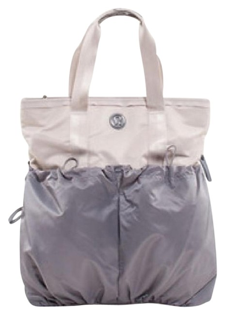 Item - Flow and Go Grey/White Nylon Tote
