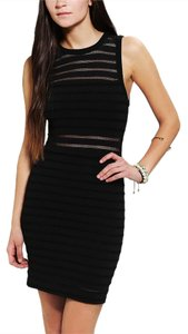 Silence + Noise short dress Black Illusion Bodycon on Tradesy