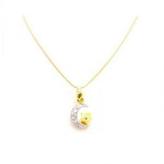 Preload https://item2.tradesy.com/images/yellow-half-moon-18k-gold-star-pendant-in-micron-gold-necklace-jewelry-set-167716-0-0.jpg?width=440&height=440