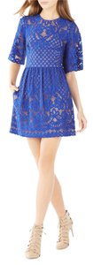 BCBGMAXAZRIA Lace A-line Mini Shortsleeve Dress