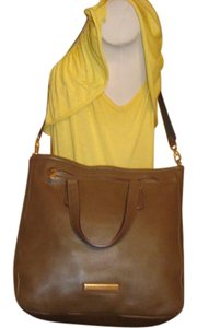 Marc by Marc Jacobs Too Hot To Handle Leather Tote in Teak Brown Gold