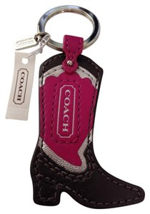 Coach Texas Cowgirl Boot Keychain