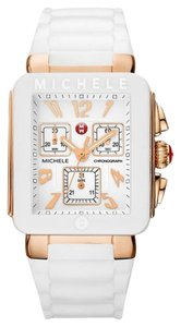 Michele BRAND NEW MICHELE JELLY BEAN PARK WHITE / ROSE GOLD watch