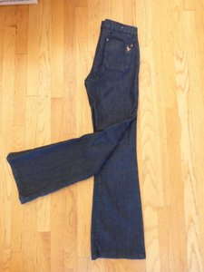 MiH Jeans Mih The Marrakesh Mid Rise Kick Color Raw Dark Blue Flare Leg Jeans